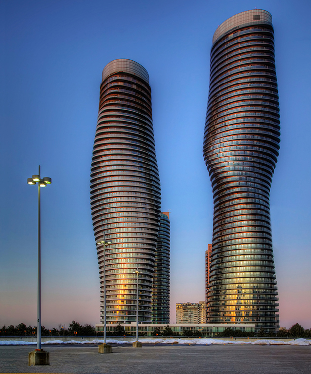 marilyn monroe towers mississauga by Roland Shainidze